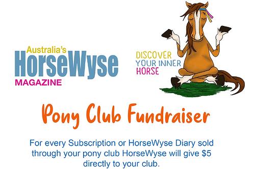 Pony Club Fund Raiser Subscription