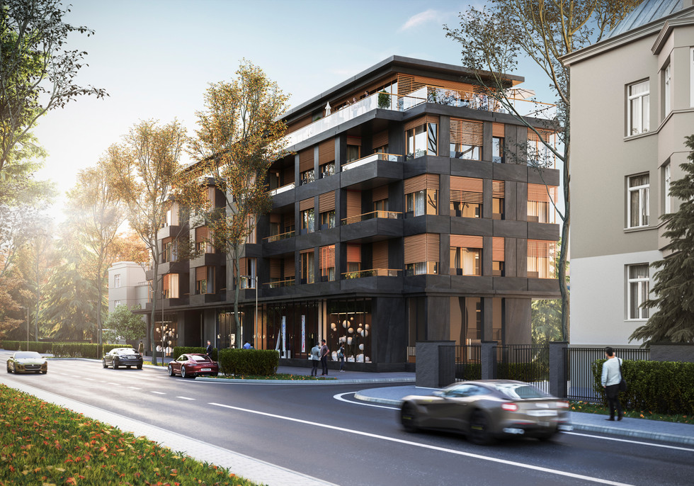 RESIDENTAL BUILDINGS NEAR THE PARK