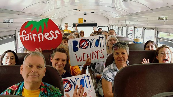 UUs on Wendys boycott bus.jpg