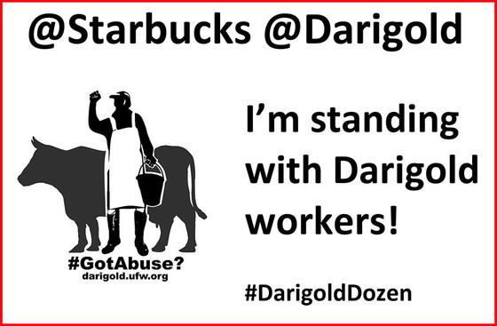 Take a Selfie @ Starbucks & Support Dairy Workers!