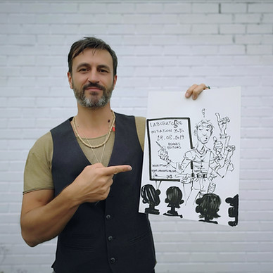 Dan Verlinden a réalisé une affiche de son LABORATO5RE