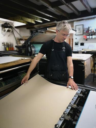 Bruno Robbe à son atelier