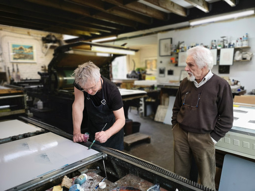 Georges Vercheval à l'atelier de Bruno Robbe