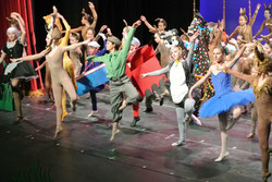 dance rehearsal in costume