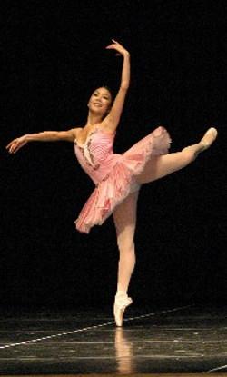 beautiful dancer in pink tutu