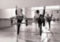 Adult Dancers learning ballet in class WIlmington NC