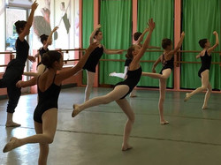 students in ballet connections class