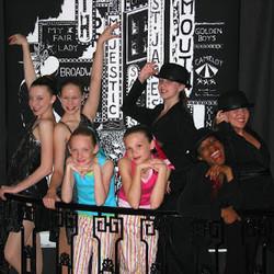 Broadway style jazz class