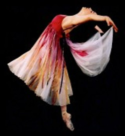 beautiful ballet dancer in costume