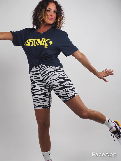 Navy Shunk Yellow Print T Shirt