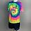 """Thumbnail: Unisex 1901 """"Lush"""" T-shirt - Neon Rainbow"""