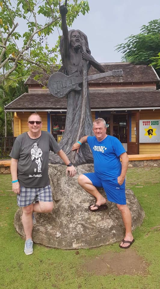 Billy and Steve in Jamaica