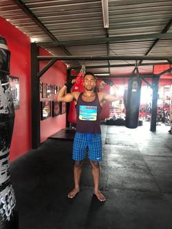 Claayz in Thai Boxing Gym