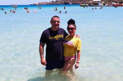 Glyn and Nicola in Cyprus