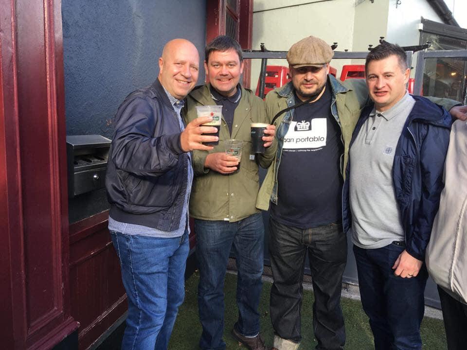 Gentds in Dublin Boozer, Wales Away