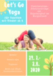 Yellow and Blue Yoga Event Invitation Fl