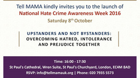 Speaking at launch of National Hate Crime Awareness Week at St Paul's Cathedral