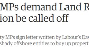Opposing the Land Registry privatisation