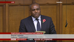 Temporary accommodation debate