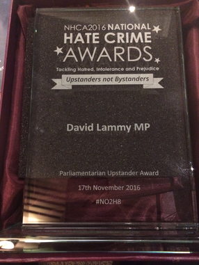 Hate Crime Upstander of the Year Award