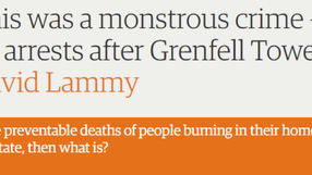 Guardian article on Grenfell