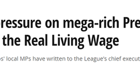 Premier League Real Living Wage campaign