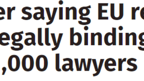 Comment on letter to the PM from 1,000 lawyers