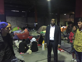 Visit to refugee camp in Athens