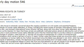Early day motion 546 - human rights in Turkey
