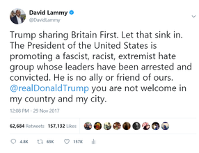Donald Trump and Britain First
