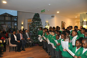 Turning on the Christmas lights at Protheroe House