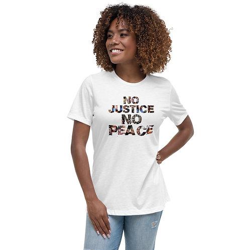 Women's No Justice No Peace Tribute T-Shirt