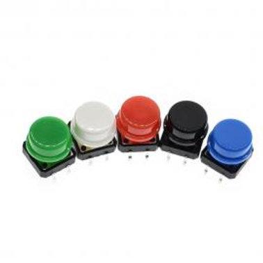 Botão tátil com Capa - 12x12x7.3 (5 unidades)