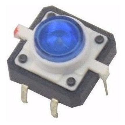 Botão tátil com LED - 12x12x7,3