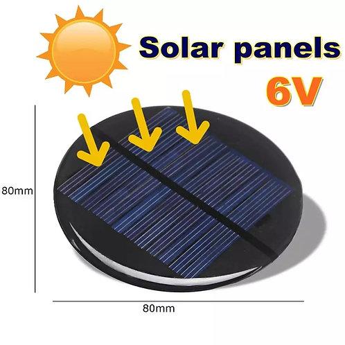Modulo energia solar 6v redonda