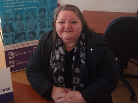 Deborah's in paid employment after 20 years volunteering