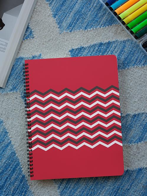 Red Chevon Notebooks
