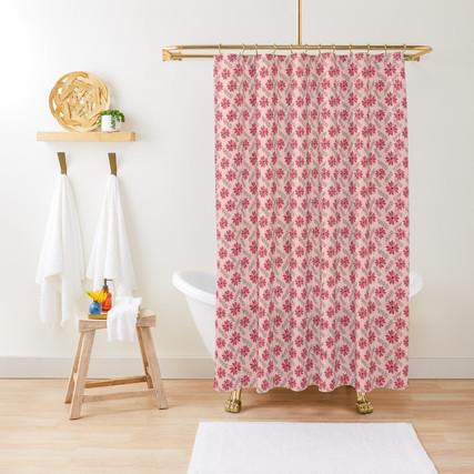 Sugarplum Daisies Shower Curtain