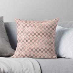 Rosey Berries Throw Pillow