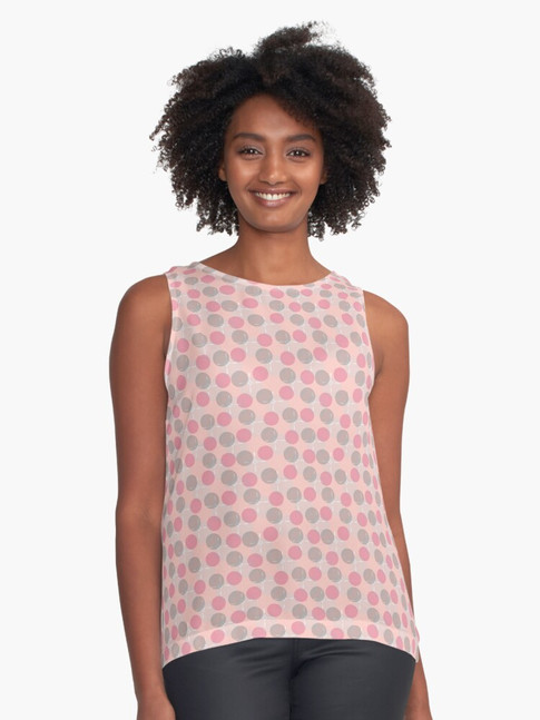 Floating Bubbles Sleeveless Top