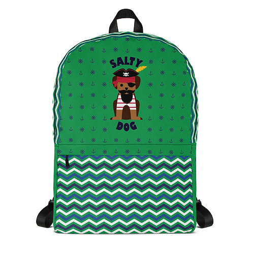 Salty Dog Backpack in Green