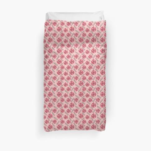 Sugarplum Daisies Duvet Cover