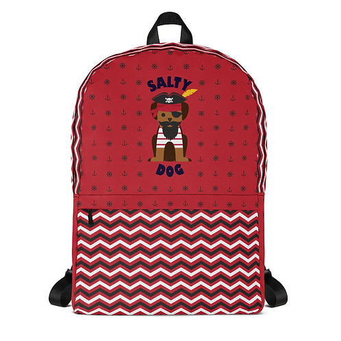Salty Dog Backpack in Red