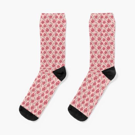 Sugarplum Daisies Socks