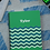 Thumbnail: Green Chevron Notebooks