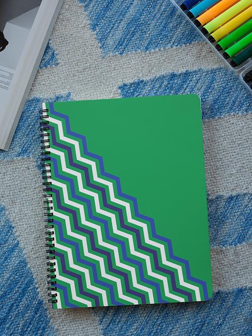 Green Chevron Notebooks