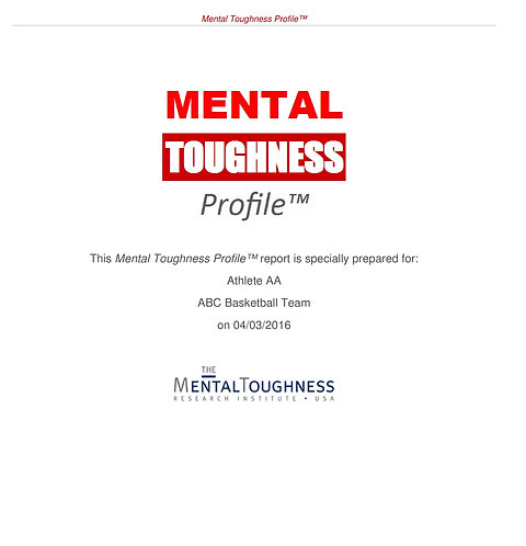 Mental Toughness Profile™ + Debrief with a Mental Toughness Coach
