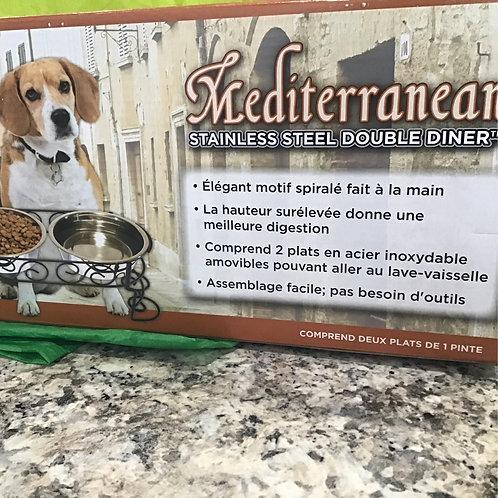 Mediterranean Stainless Steel Double Diner