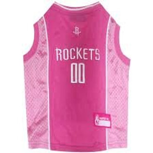 Pink Houston Rockets Jersey