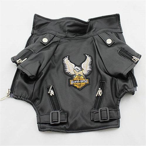 Leather Biker Dog Jacket
